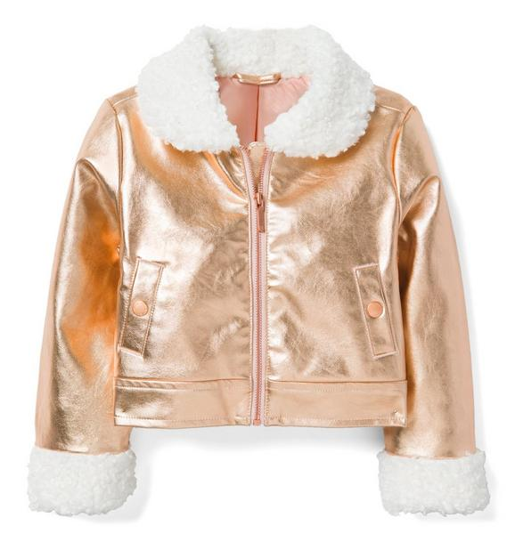 Metallic Flight Jacket
