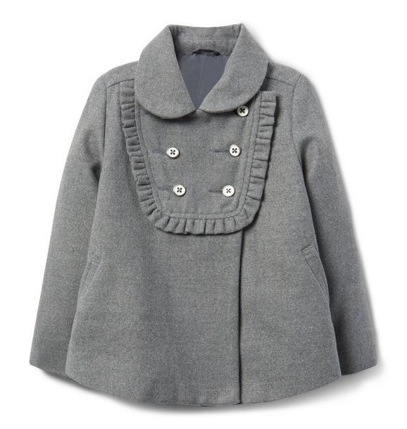 Ruffle Short Coat