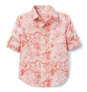 Liberty® Fairy Land Roll-Cuff Shirt
