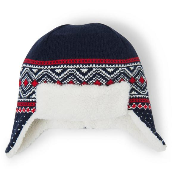 Sherpa Lined Fair Isle Hat