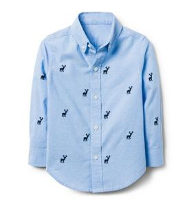 Embroidered Moose Shirt