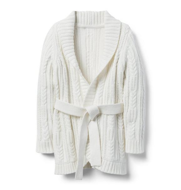 Cable Sweater Coat
