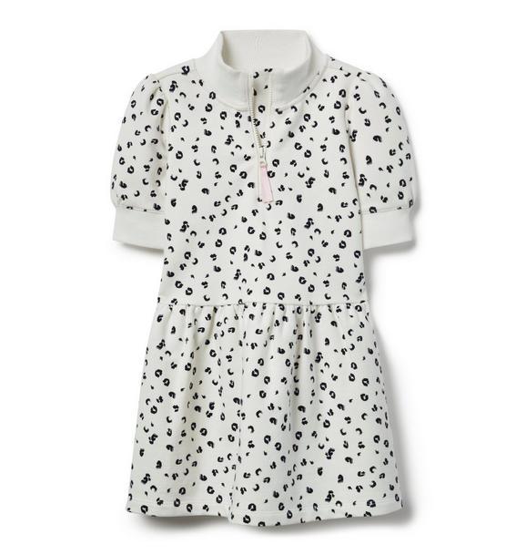 Leopard Half-Zip Dress