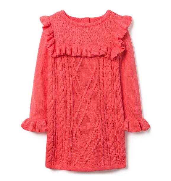 Ruffle Sweater Dress