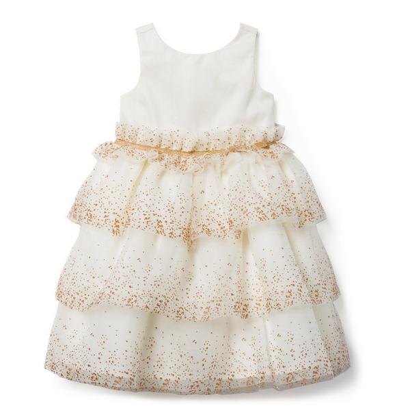 Shimmer Ruffle Tulle Dress