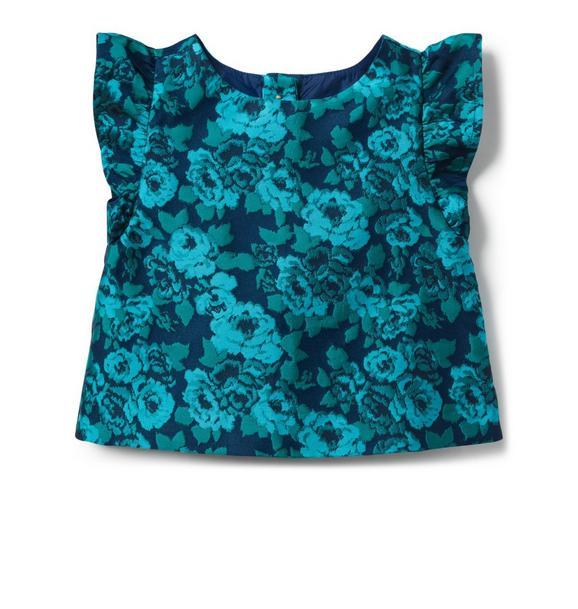 Floral Jacquard Top