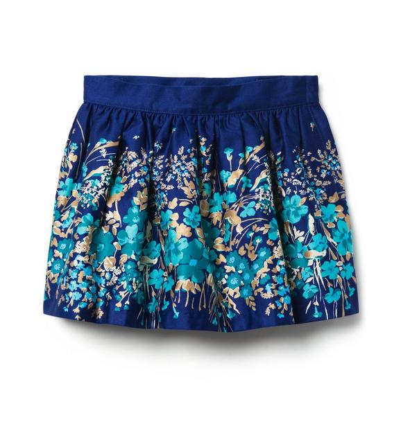 Floral Border Skirt