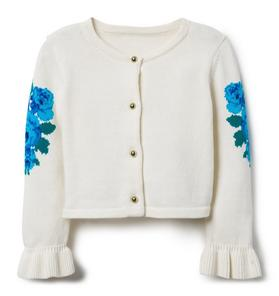 Floral Sleeve Cardigan