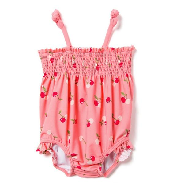 Smocked Cherry Swimsuit