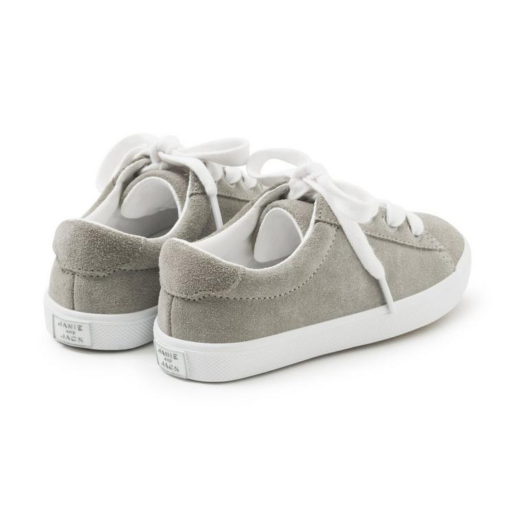a9b3c59cfcccf Accessories Cloud Grey Suede Lace-Up Sneaker by Janie and Jack