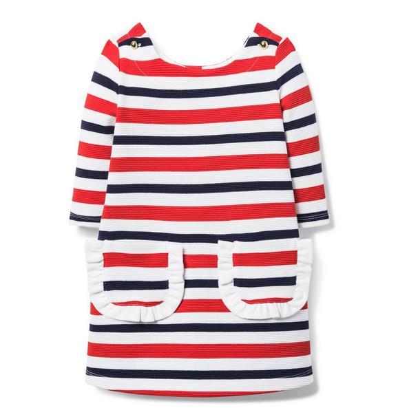 Ribbed Striped Dress