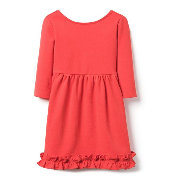 Ruffle Hem Ponte Dress