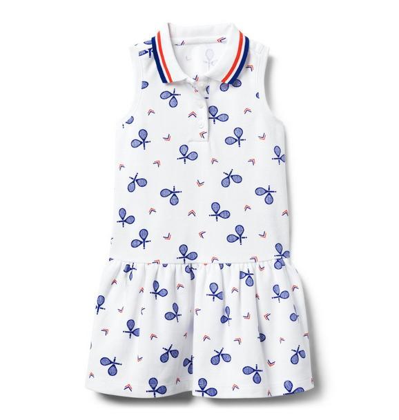 Tennis Print Dropwaist Dress