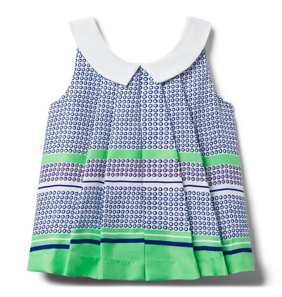 Dot Pleated Top