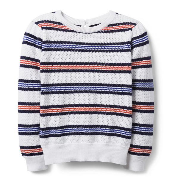 Striped Crochet Sweater