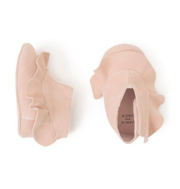 Suede Ruffle Crib Bootie