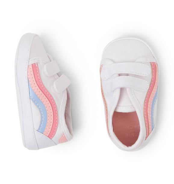 Striped Sneaker Crib Shoe