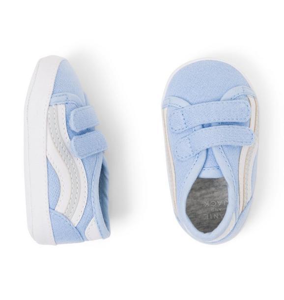 Striped Sneaker Crib Shoe