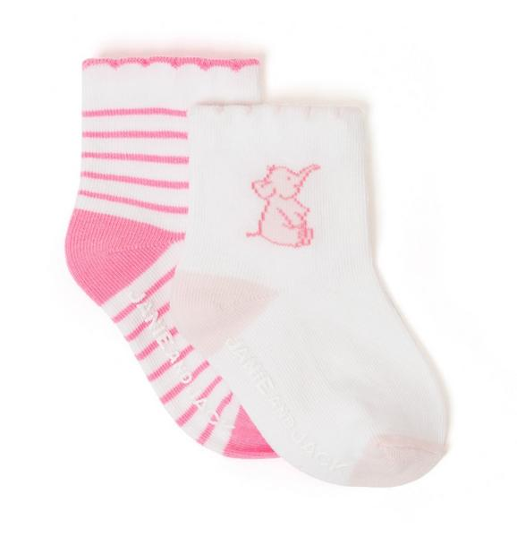 Elephant & Striped Sock 2-Pack
