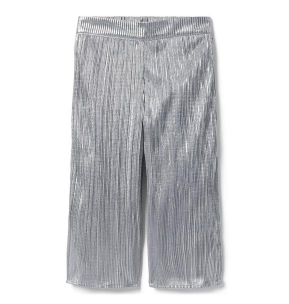 Metallic Pleated Pant