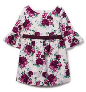 Ruffle Sleeve Floral Dress