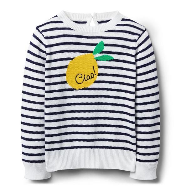 Striped Lemon Sweater