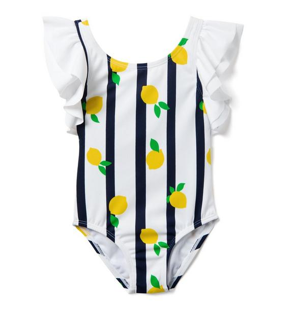 Striped Lemon Swimsuit