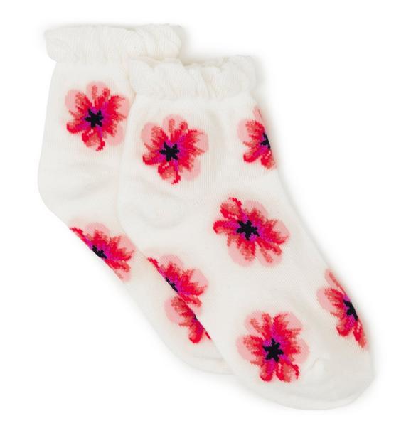 Ruffle Floral Sock