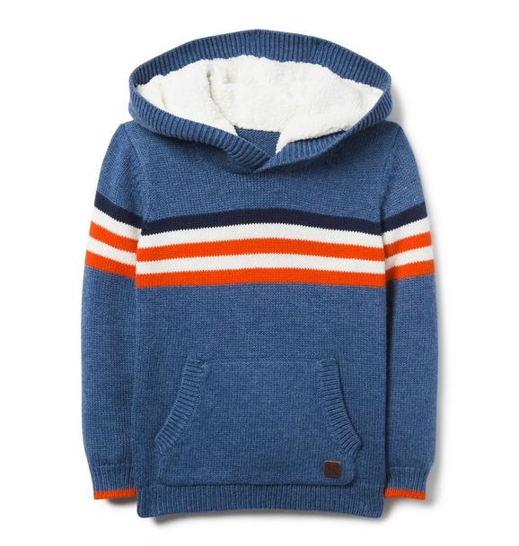 Sherpa Lined Hooded Pullover