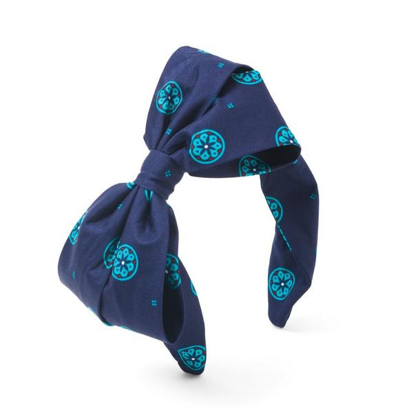 Geo Floral Bow Headband