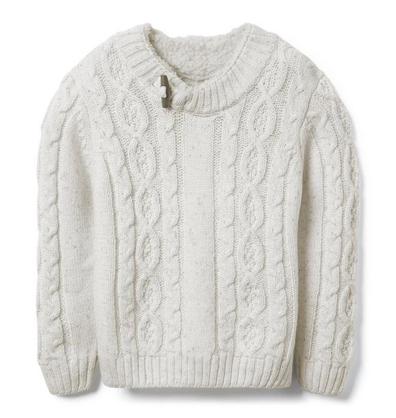 Sherpa Lined Collar Sweater