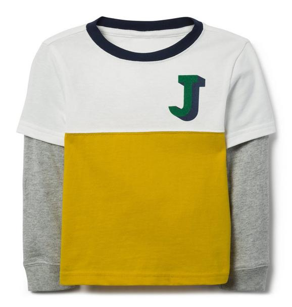 Colorblocked Layered Tee