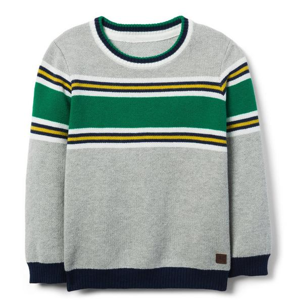 Colorblocked Crewneck