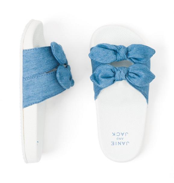 Chambray Bow Slide