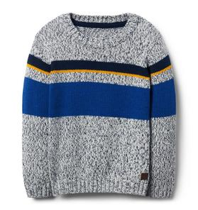 Striped Marled Crewneck Pullover