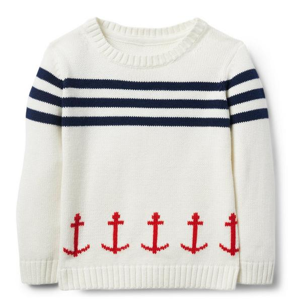 Striped Anchor Pullover