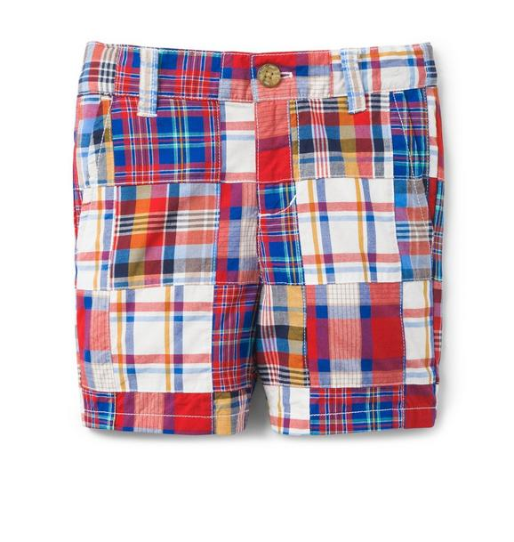 Plaid Patchwork Short