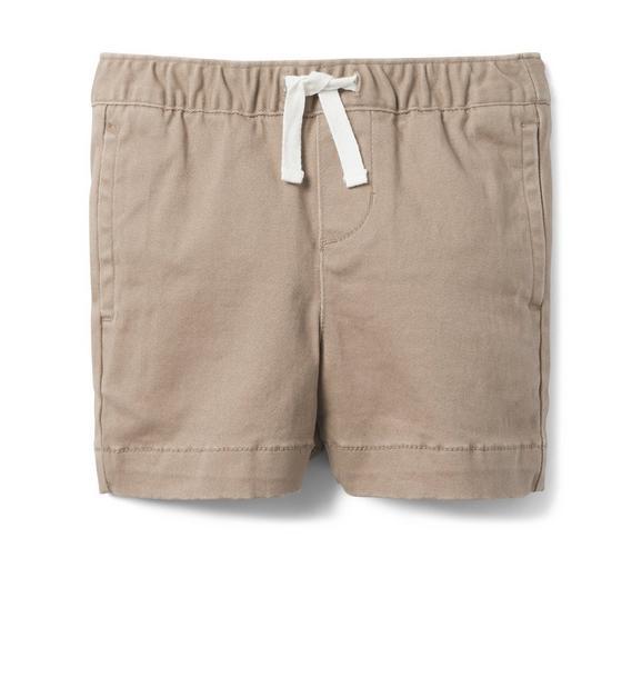 Pull-On Stretch Twill Short