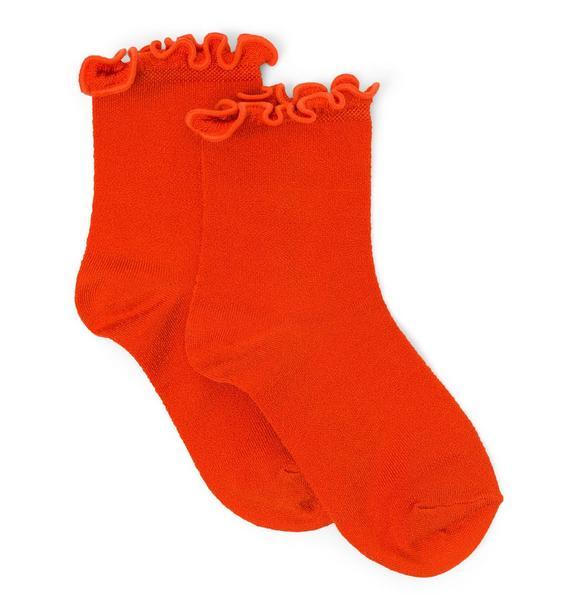 Shimmer Ruffle Sock