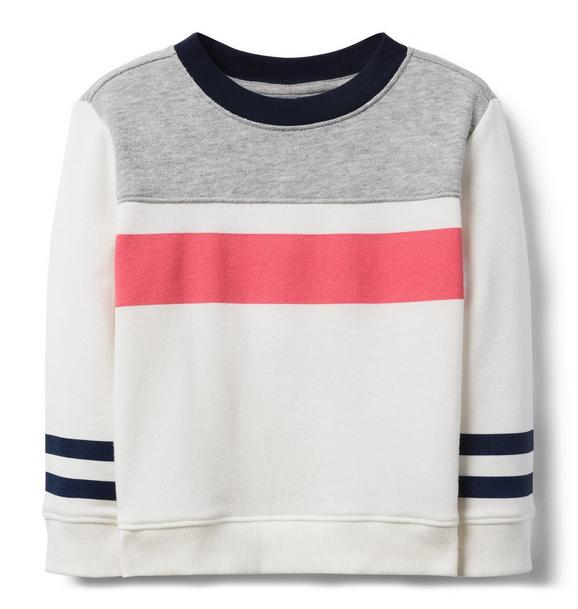 Striped Colorblock Sweatshirt