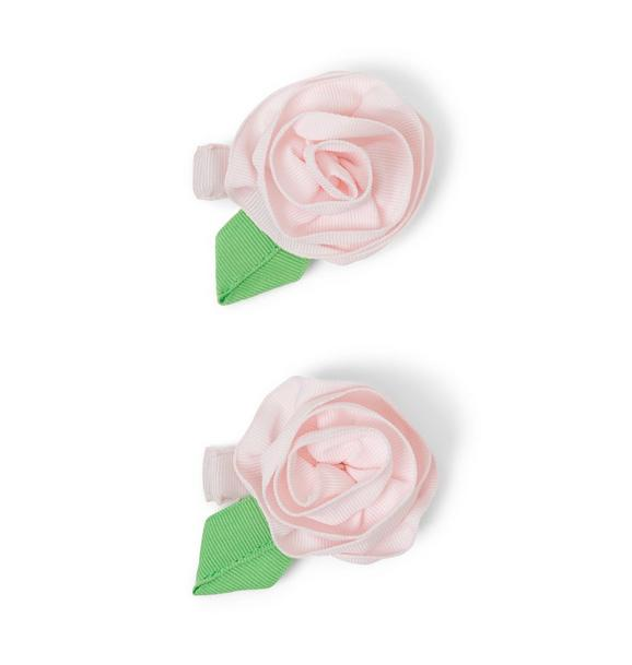 Rosette Barrette Set