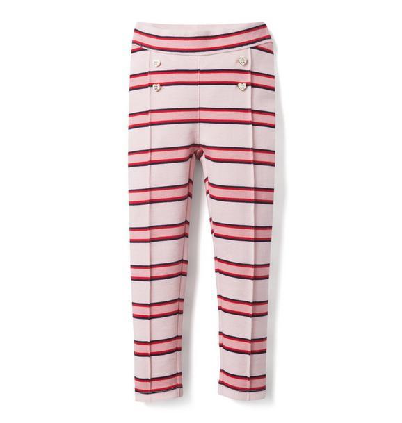 Striped Ponte Pant