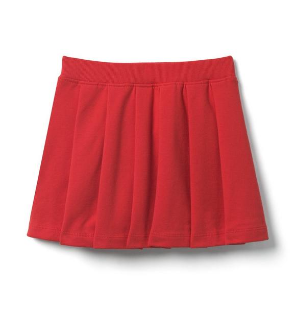 Pleated French Terry Skirt