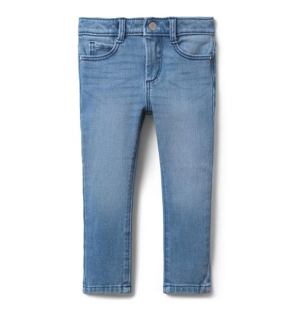 Skinny Jean In Sun Faded Wash