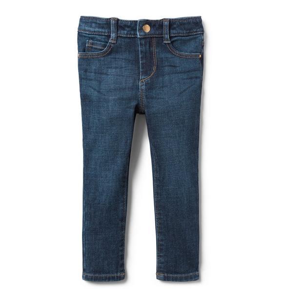 Skinny Jean In Deep Ocean Wash