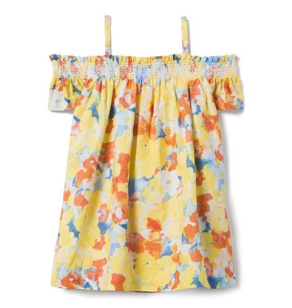 AERIN Floral Off-The-Shoulder Dress