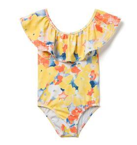 0a0d1a453d0d3 Quick Look · Ruffle Watercolor Floral Swimsuit