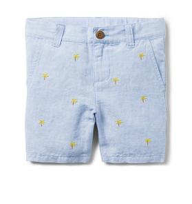 AERIN Embroidered Linen Short