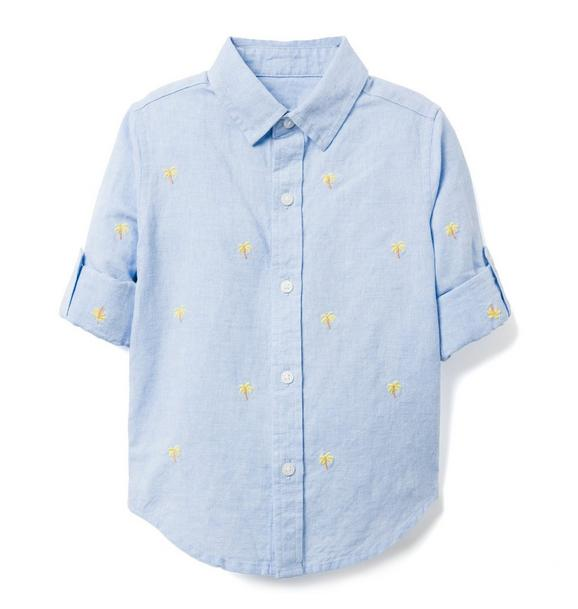 AERIN Embroidered Linen Shirt