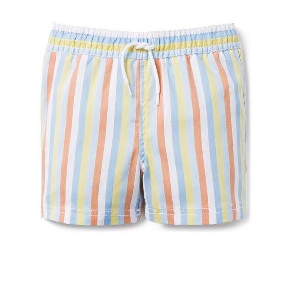 AERIN Striped Oxford Swim Trunk